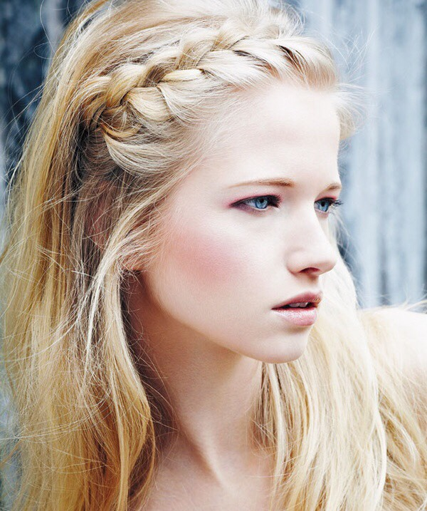 To do this you'll need to braid the front of you hair then put it around your head if you have long hair