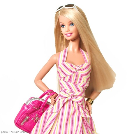 "First, brush your barbies hair the best that you can.  Then simply ""dunk"" her hair in really hot water for about 30 seconds and towel dry.  Now all you need to do is give your barbie a new hair style."