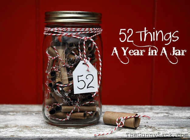 3. Moms deserve more than just a day, so write her a short note for each week of the year.  DIY here:  http://www.thegunnysack.com/2012/02/52-things-year-in-jar-handmade-gift.html