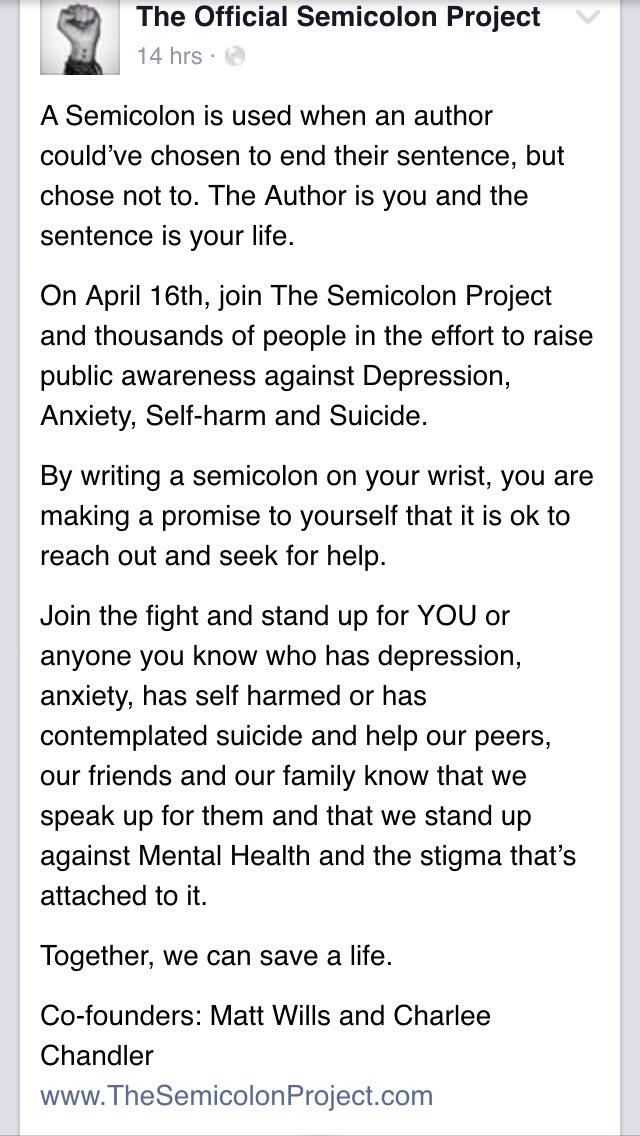 Join the semicolon project