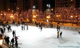 1. Go ice skating! Local indoor rinks are cool, but in the winter cities will often put together temporary outdoor rinks. Look around for these glittering beauties, sure to make a winter night special!