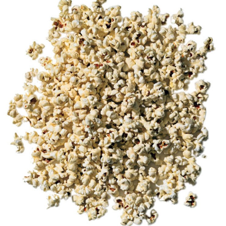 3 C AIR-POPPED POPCORN Go ahead, nibble mindlessly as you zone out in front of Bravo. Even if you're watching trash, you won't be eating it.