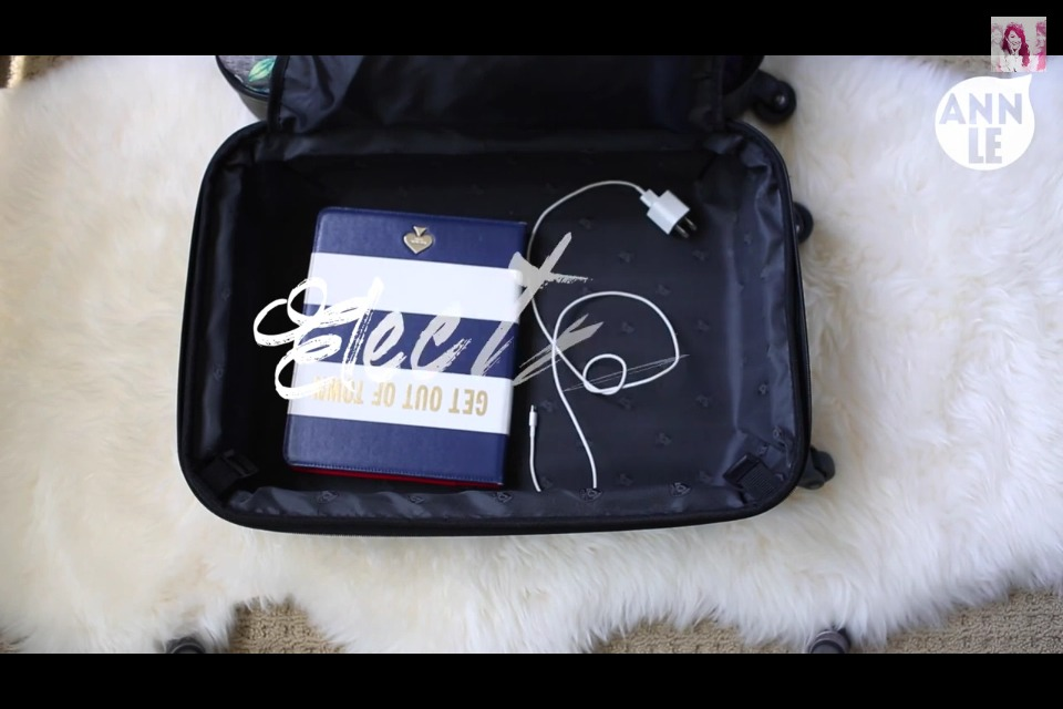 Now you've got extra space on the other side of your luggage!  **DON'T FORGET YOUR CHARGERS!