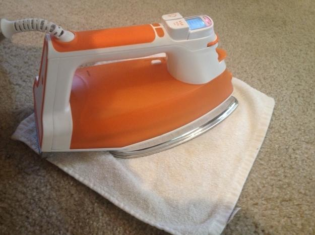20. Use an iron to remove REALLY stubborn stains from carpet.