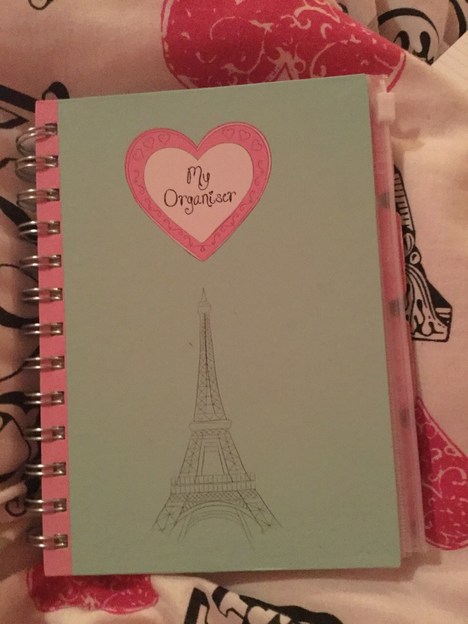 Have an organiser or schedule