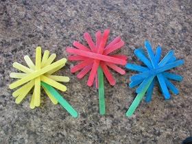 -> Craft-Stick Flowers