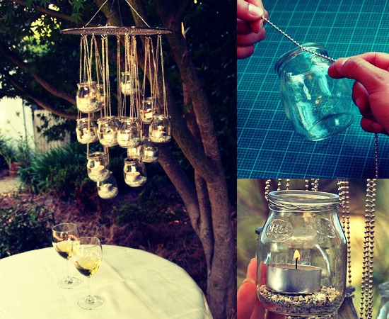 Make a romantic chandelier.. Tap pic for full view