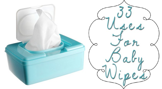 """Why do we call them """"baby wipes"""" anyway?  Shouldn't they just be called WIPES? After reading what seems like a MILLION uses for baby wipes…other than for wiping the baby…  Here are just a few of my favorites!!"""