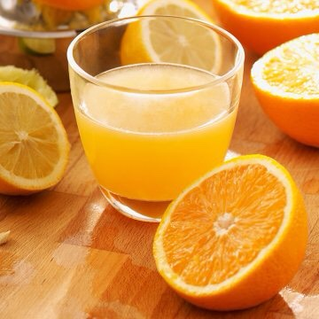 ORANGE JUICE | Juiceoften gets a bad rap, butOJ provides fluids tokeep you hydrated + Vitamin C --worksas an antioxidant to protect skin + other cells from damage caused by free radicalsin the environment + in the body. Vitamin C also helps create collagen, the body's main structural protein.