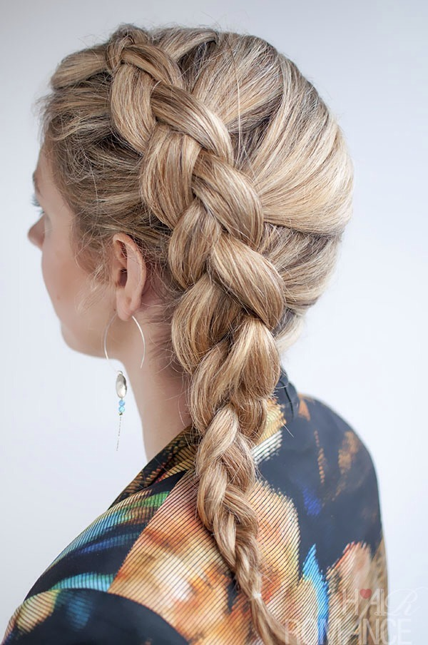 This is what it should look like when done! I like to spray my braids with some sea salt spray.