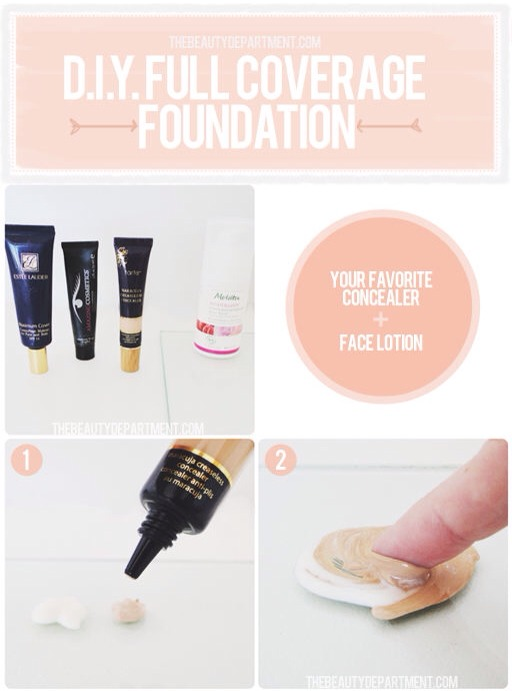 This works just as well as a B&B cream, hiding imperfections with a really natural look; simply mix your favorite facial moisturizer with a little bit of concealer. This way you can customize it with just the right amount of coverage.