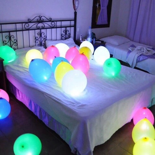 10. deck out in balloons! Actually one of my favorites on this list. Just blow up a ton of balloons, you could even put glow sticks in them, and totally go crazy.  Everyone will end up playing with them like 5 year olds cuz hey, who doesn't??