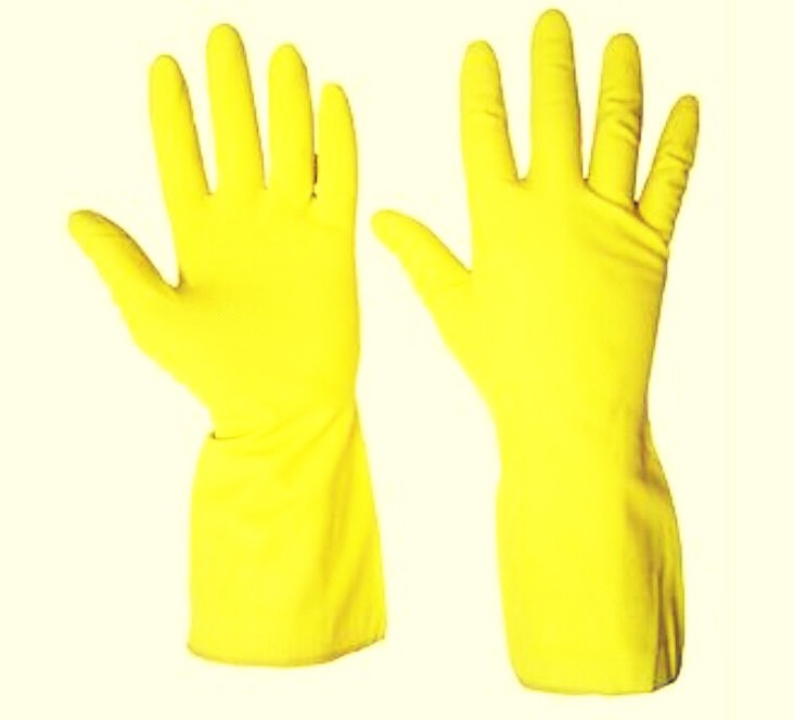 Need help getting that pesky car hair off furniture? Wet a rubber glove. It comes right off things and onto the glove.