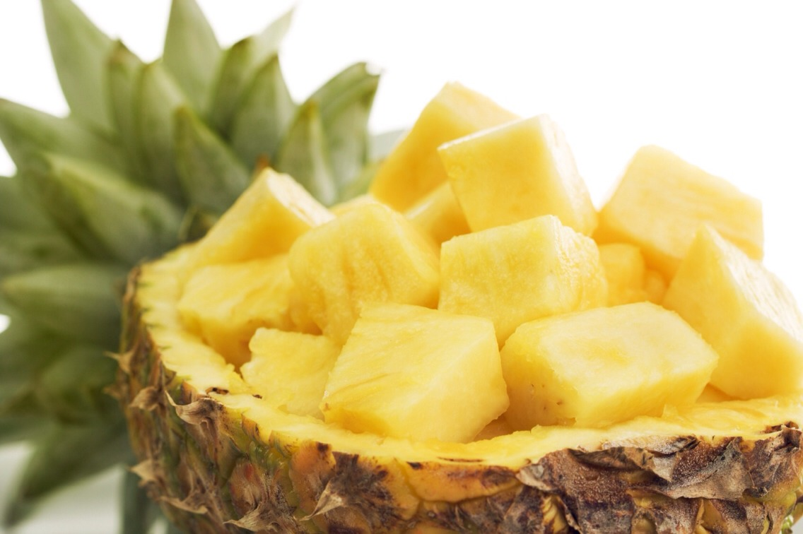 Pineapples contain vitamin C which helps fight acne. Incorporating this fruit in your routine meals can help heal and prevent acne.