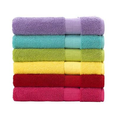 Add 1 cup of salt to the wash the salt will set the colour. so your towels will remain bright much longer.