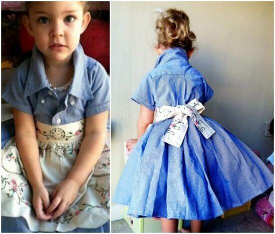 e8ac512265c2 Turn Men s Shirt Into An Adorable Toddler Dress. 😃 by Mahwash Ahmed ...