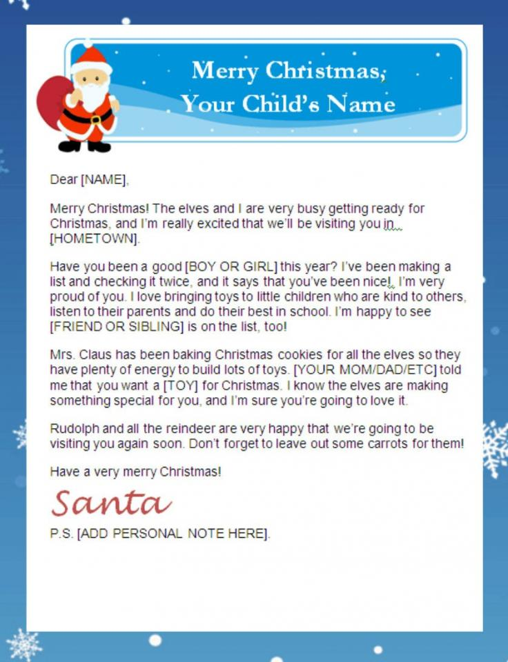 Free Christmas Printables For Kids Letters To Santa Thank