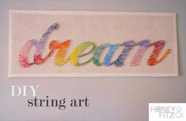 Get instructions at  http://honeyandfitz.com/2012/02/16/diy-string-art-tutorial/