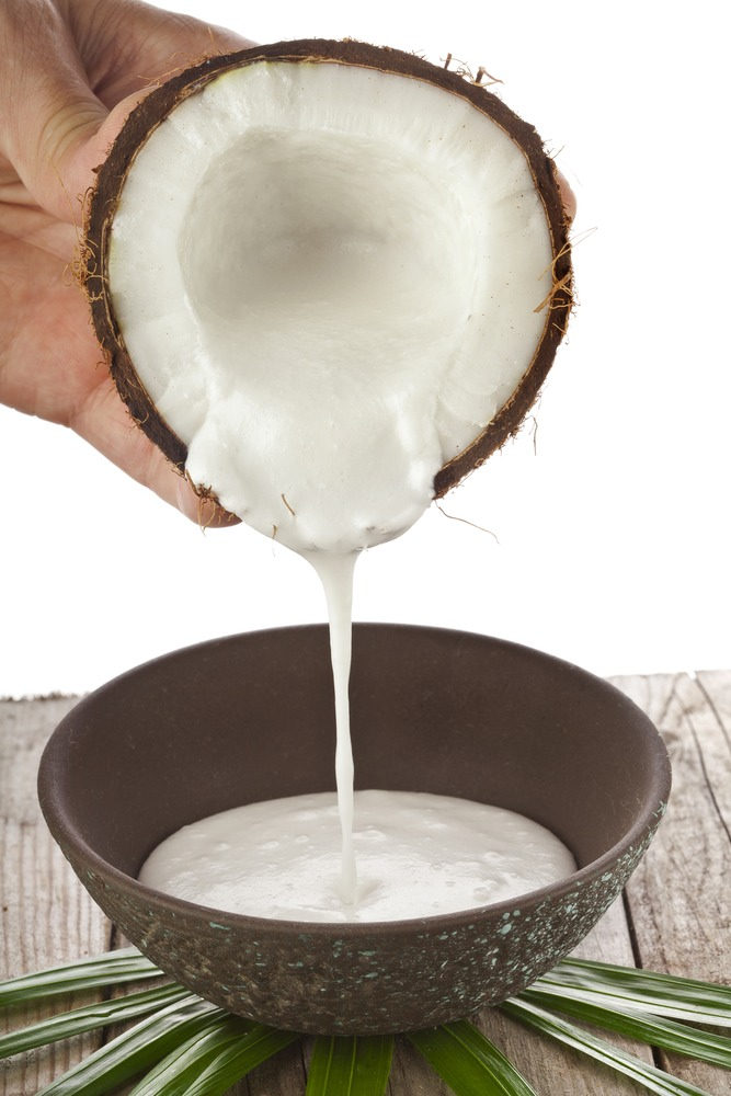 Ingredients:  2 cups coconut milk 1 cup natural carrot juice  Intructions:  In a large bowl place the coconut milk and carrot juice. Mix well. Apply to hair and put on a shower cap. Leave it for 15 mins. Do this 2-3 times a week, for about a month or until your hair stops falling.
