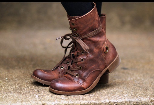 Combat boots are my favorite right now! You can wear them with anything!  Jean, leggings, skirts,you name it!