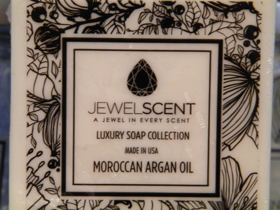 All-natural Moroccan Argan oil soap hand made with organic Moroccan Argan oil rich in Vitamin E and antioxidants for a silky pampering effect. Visit https://www.facebook.com/jewelscent.tamara for your chance to win!