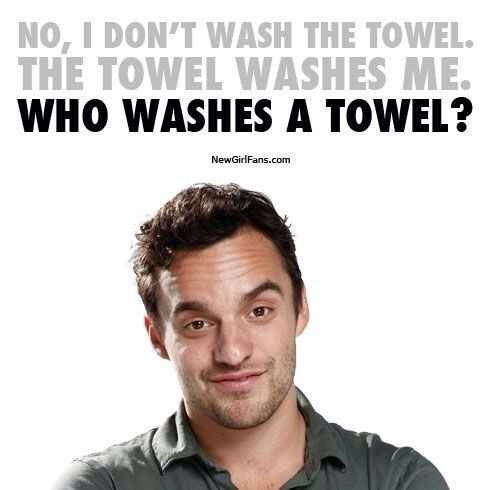 3.While you're at it, wash your towel and bathmats.