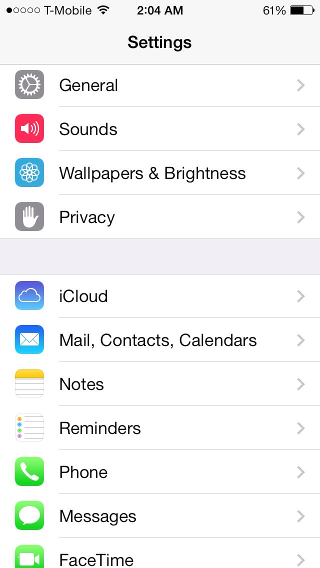 Go to settings and click on privacy.