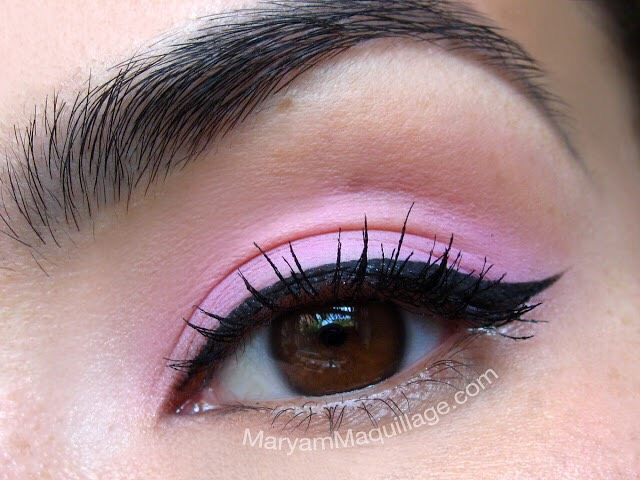 Starting off with the eyes... 1) Pack Rose Quartz (or any similar toned pink) all over the lid and finish it off with a winged liner and mascara. Simple and beautiful!