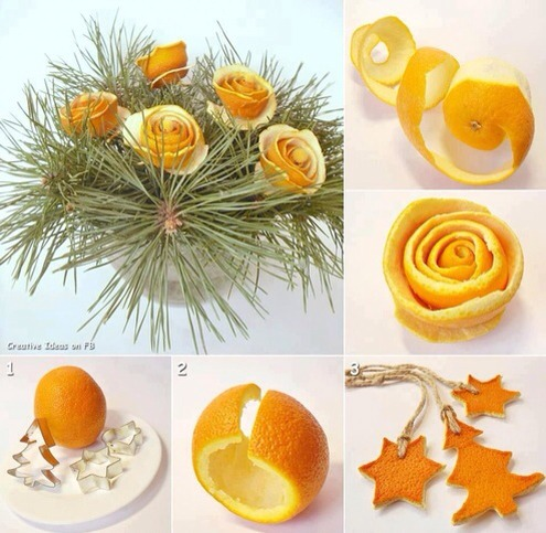 Beautiful orange flower arrangements...  Ornament lover? No prob...try this out...