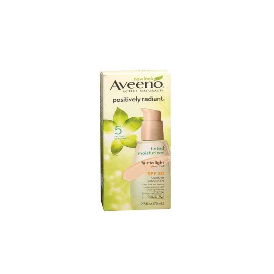 Aveeno Active Naturals Positively Radiant Tinted Moisturizer SPF 30 A sheer tint with SPF. $17.49 at most Drugstores.