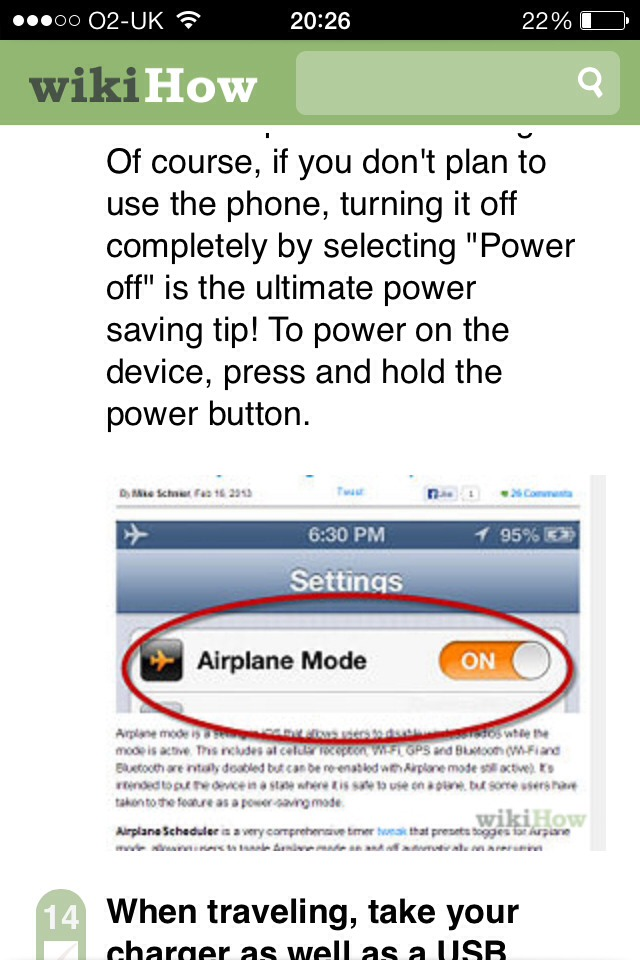 3) Turn airplane mode on.