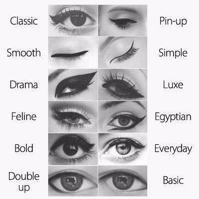 All the eye liner looks you can do! Have fun with it(: