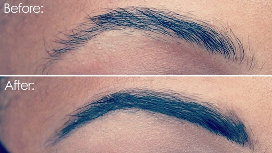 Use hair gel to tame eyebrows