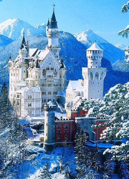 The real Cinderella castle. Neuschwanstein castle. Bavaria Germany. Breathtaking