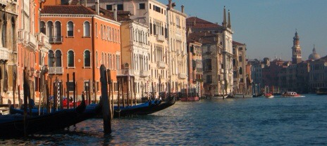 Venice. Nothing compared to enjoying Italiab and wine and watching the sun set over the canals.