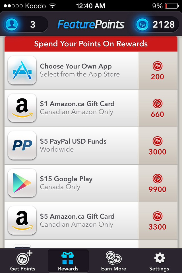 These are examples of small prizes you can earn right away!