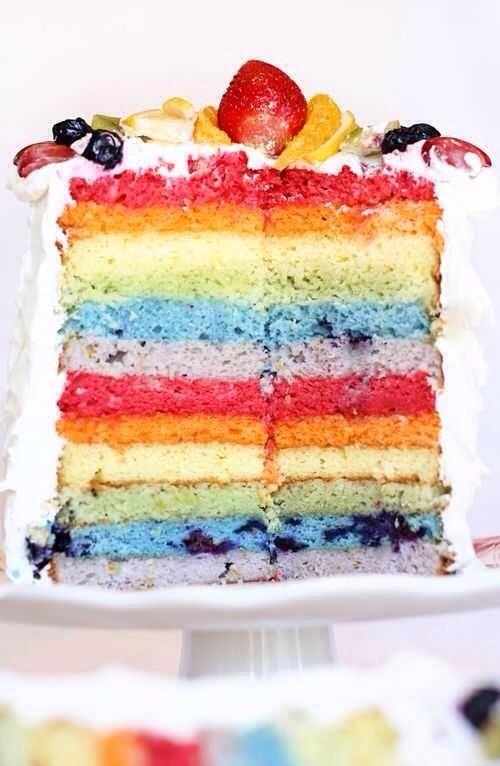 32. Fruit-Dyed Layer Cake
