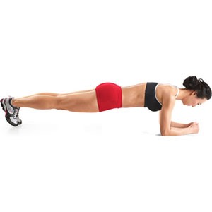 Plank – 3 sets 30 reps