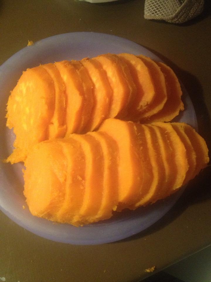 - Peel and slice patatoes