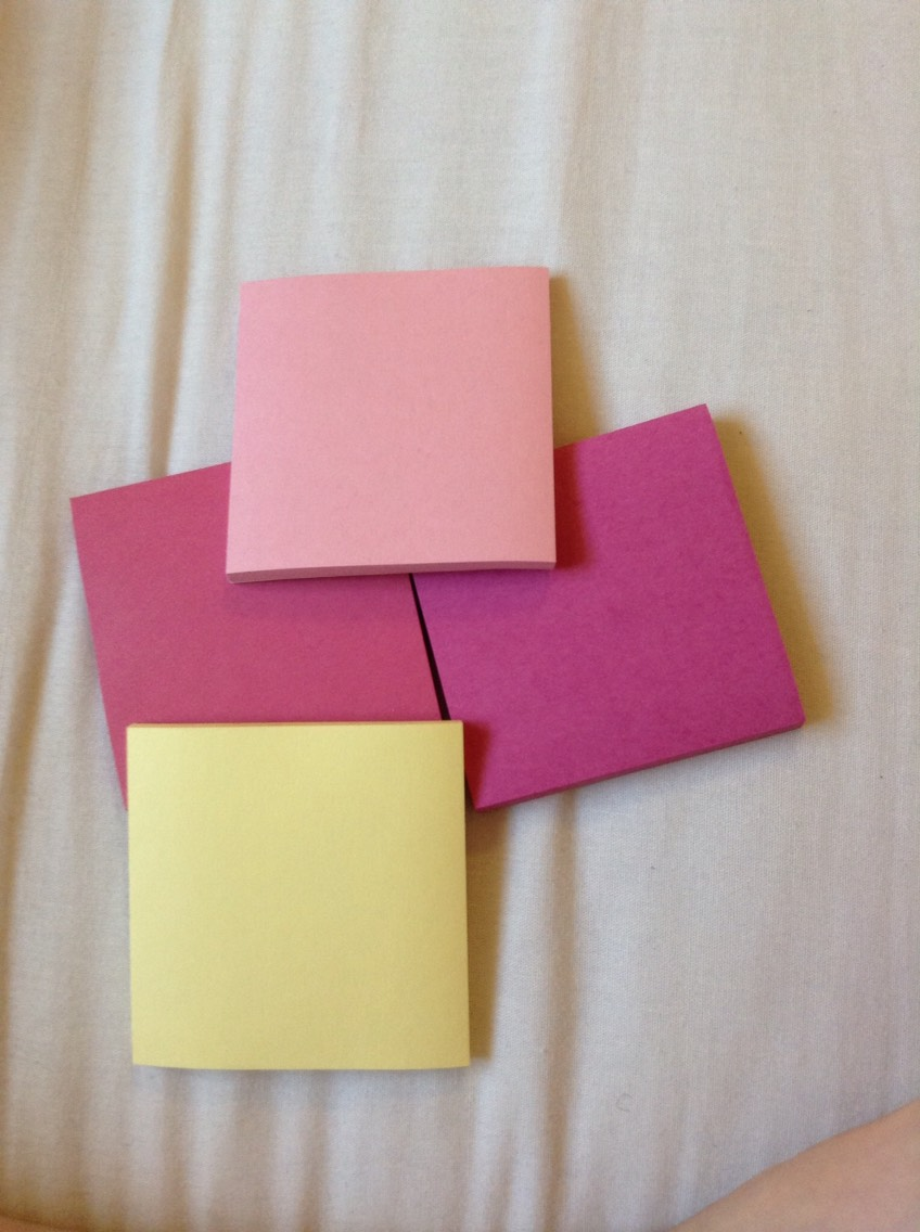 Sticky notes for memos