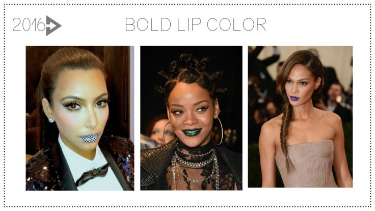2016: The Big LipFrom outrageous lip colors to lip tattoos toKylie Jenner's lip kits, 2016 will be all about your pucker, pout and a bright bold lip.