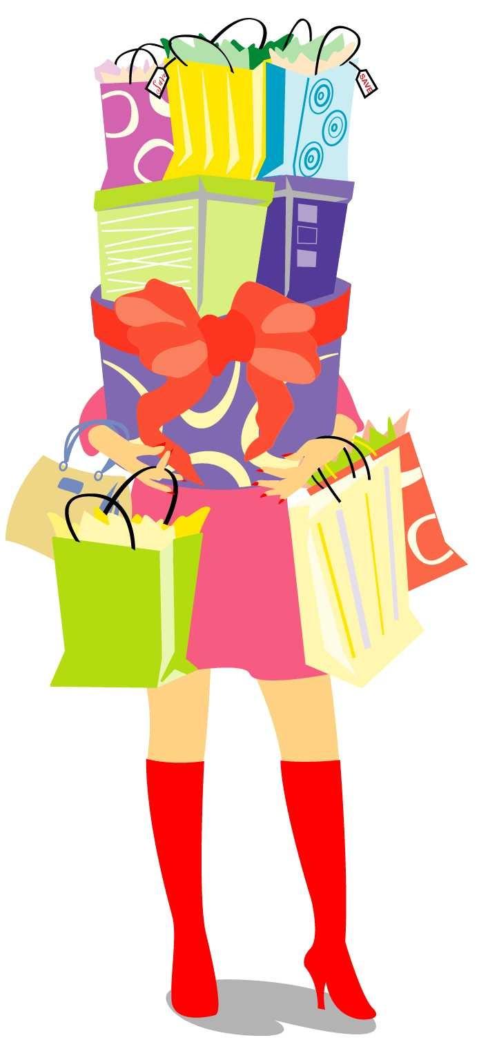 Девушка с покупками картинка