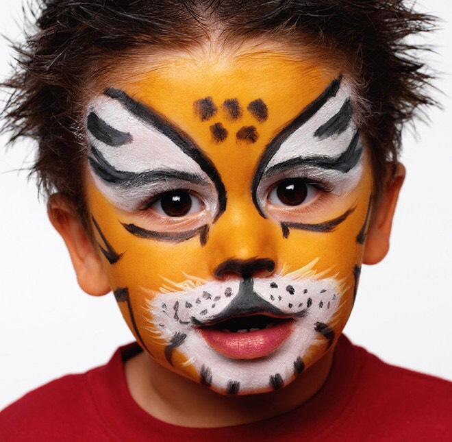 Buy face paint and try this yourself!