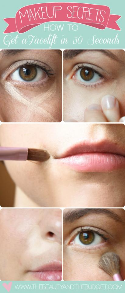 12. Or if you're more a do-the-minimum sort of person when it comes to makeup, just apply it under your eyes, at the corners of your mouth, and next to your nose.