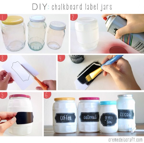 Get different size jars. Spray paint the jar to your preference. Cut out labels and paint them to your preference as well. Last but not not least put it all together and write whatever you desire in the labels. Have fun thumbs up 👍