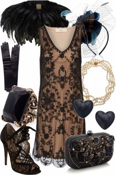 Since hems were shorter stockings and shoes became more elaborate. Beads err incorporated onto dresses, hats, and bags.