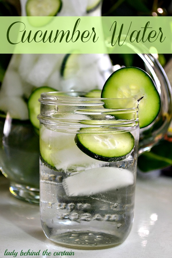 I did this and it really worked! Slice cucumber and put it in a glass then run water on it, you can use the same cucumber slices a few times as long as they still remain fresh, the more the water tastes of cucumber the better!