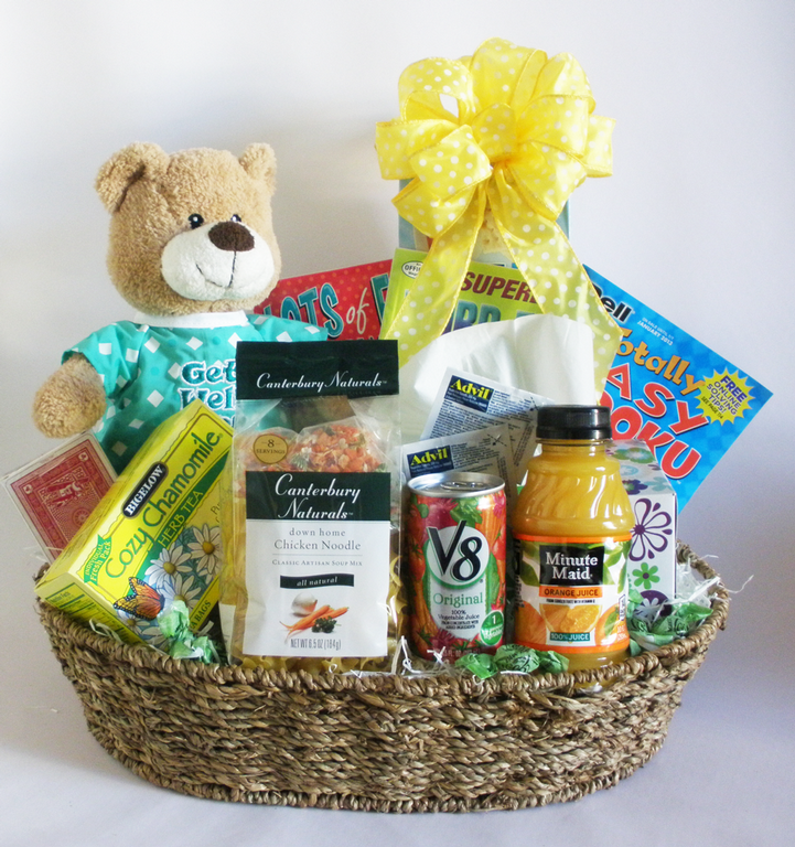 Follow these 9 steps to create a get well soon basket for your loved one!