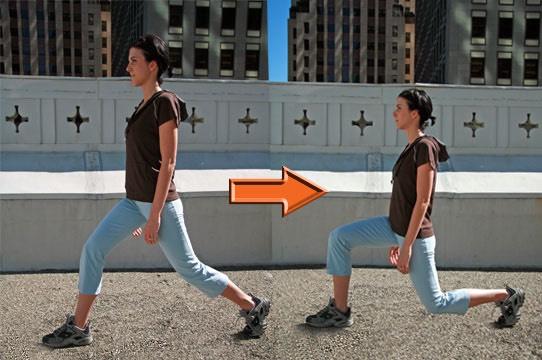 15 (each leg) back lunge
