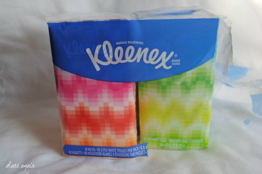 Tissues. Just if you don't want to get up and get one and you can fix you makeup and there could be no more tissues in school.